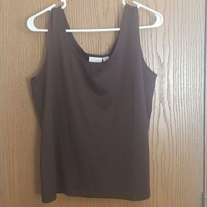 NWT Chico's Brown Microfiber Tank Size Large/2